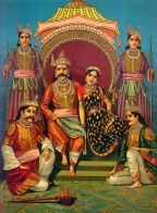 800px-Draupadi_and_Pandavas